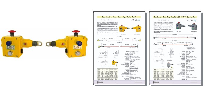 Safety Rope Switches - Grab Wire Safety Rope Switches